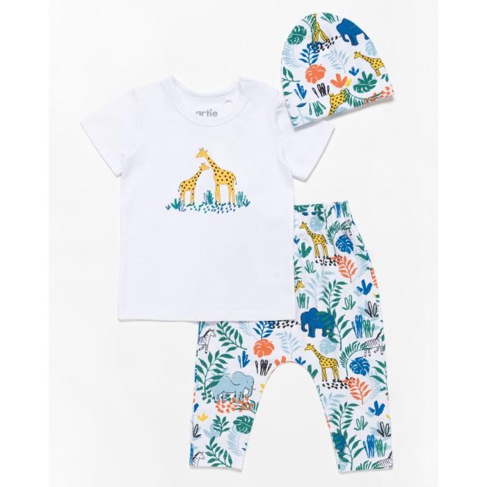 Купить Комплекты детской одежды, Artie Комплект для мальчика ( футболка, брюки, шапочка) Jungle AKt3-442m