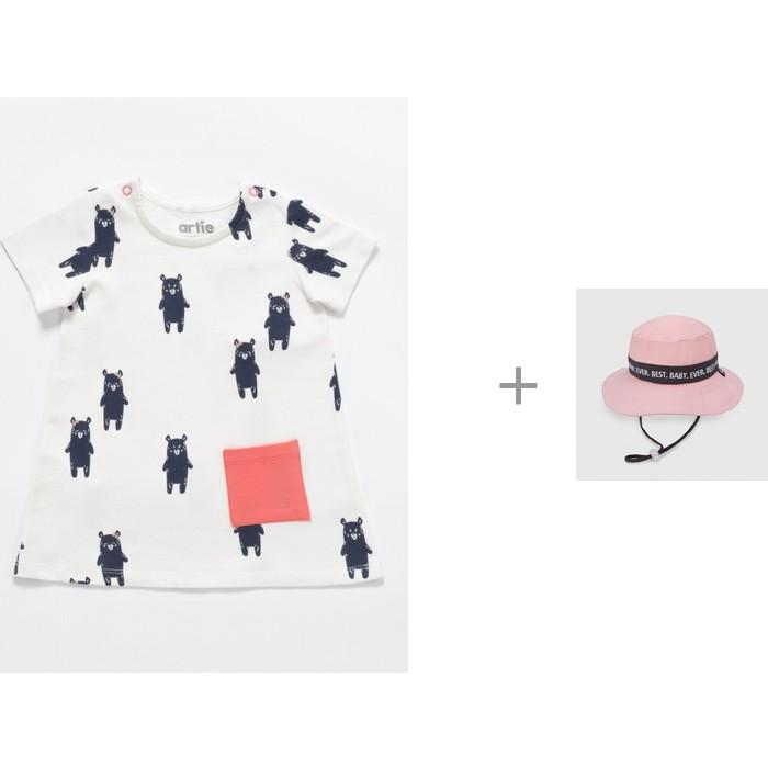 Artie Платье для девочки Cherry APl-242d с панамой Happy Baby Пляж