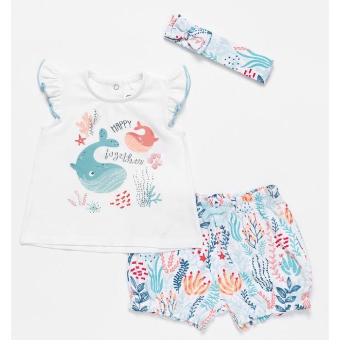 Купить Комплекты детской одежды, Artie Комплект для девочек (джемпер, шорты, повязка) Sea world AKt3-676d