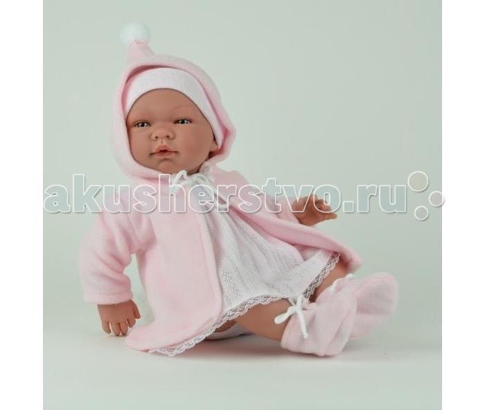 ASI Кукла 45 смКукла 45 смКукла-реборн, размер 45 см, полностью выполнена из винила, без волос, можно купать, Мария в розовом платье, шапочке и пальто,Пабло в голубом комбинезоне, шапочке и пальто, в комплекте пустышка, в красивой подарочной коробке.<br>