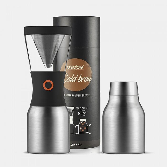 Бытовая техника Asobu Кофеварка портативная Cold Brew 1 л кофеварка портативная 1 л серебристая asobu cold brew kb900 silver black