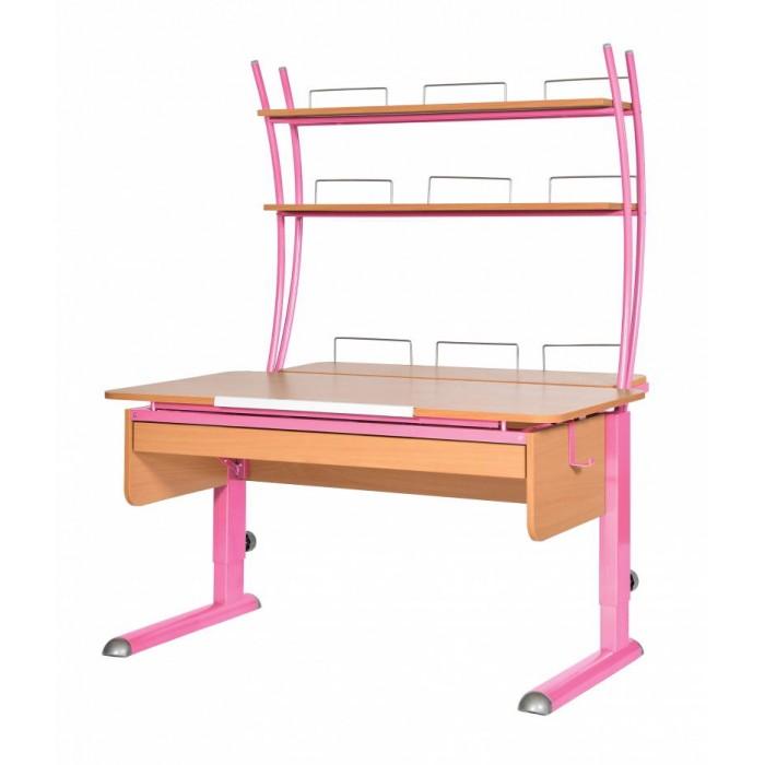Школьные парты Астек Парта Моно-2 с надстройкой и выдвижным органайзером (столешница бук) детские столы и стулья астек парта моно 2 с надстройкой столешница белая