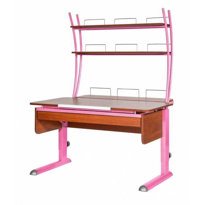 Школьные парты Астек Парта Моно-2 с надстройкой и выдвижным органайзером (столешница яблоня) детские столы и стулья астек парта моно 2 с надстройкой столешница белая