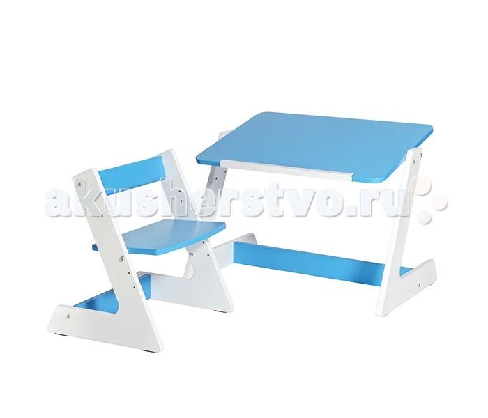 Астек Комплект Пиноккио (стол и стул)Комплект Пиноккио (стол и стул)Астек Комплект Пиноккио (стол и стул) предназначен для детей ростом от 85 до 120 см. Стол покрыт специальным не токсичным лаком, проверен, сертифицирован и абсолютно безопасен для малышей.  Столешница устанавливается в горизонтальном или наклонном положении для обеспечения максимально комфортного и здорового положения при учебе. Удобная выдвижная планка поможет удерживать различные предметы, книжки, альбомы для рисования.  Особенности: Регулируемый угол наклона столешницы; Оригинальная регулировка высоты столешницы с помощью фиксаторов в форме ключика; Светопоглощающее покрытие столешницы, уменьшающее нагрузку на глаза; E0 & E1 нетоксичные краски и покрытие, которые соответствуют международным стандартам действующих в Европейском союзе и США;<br>