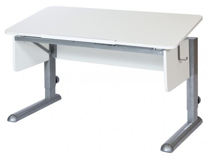Астек Стол Моно-2 (столешница белая)Стол Моно-2 (столешница белая)Астек Стол Моно-2 (столешница белая) растет вместе с ребенком. Это возможно благодаря регулируемой высоте ножек парты. Уровень наклона столешницы тоже может изменяться от 0° до 45° с помощью ступенчатого механизма (10 положений).  «Приятные мелочи» в виде съемного крючка для портфеля сделают учебный процесс комфортней. Большая цельная столешница — единственное отличие от парты Твин.  Особенности: Большая цельная столешница шириной 115 см и глубиной 58 см; Парта подходит для роста ребенка от 112 см до 198 см; Ступенчатая регулировка столешницы от 0° до 45° (10 положений);<br>