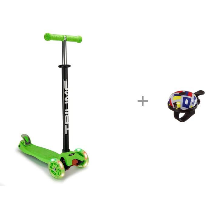 Купить Скейтборды, Triumf Active Скейтборд TLS-401 Черный/Мятный со световозвращающим Slap-браслетом Blicker