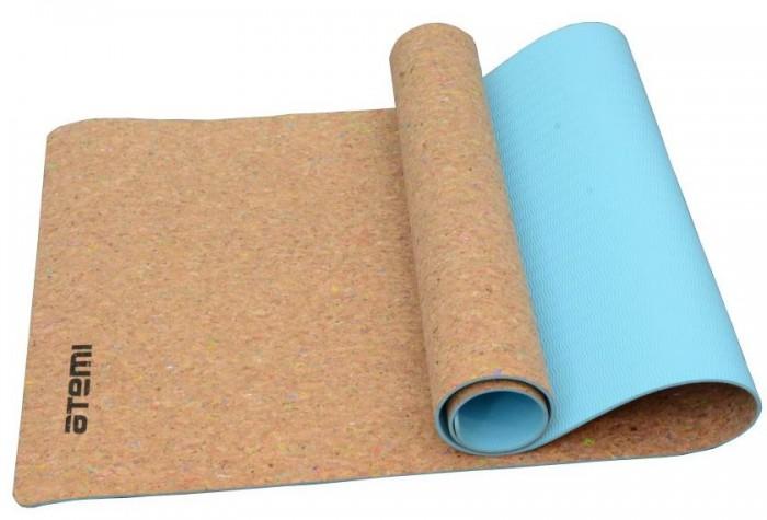 Товары для йоги Atemi Коврик для йоги и фитнеса пробковый 173х61 см товары для йоги bradex коврик для йоги 173х61 см