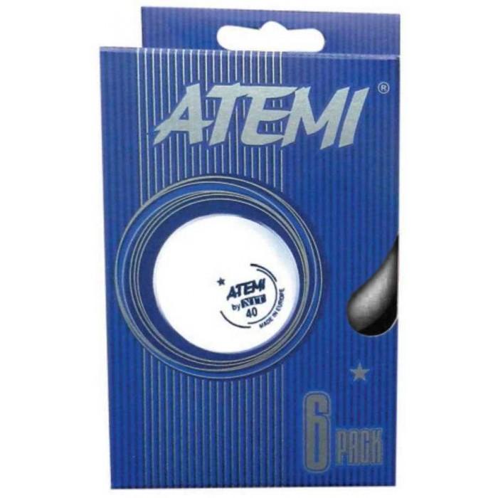 Спортивный инвентарь Atemi Мячи для настольного тенниса № 1 6 шт.