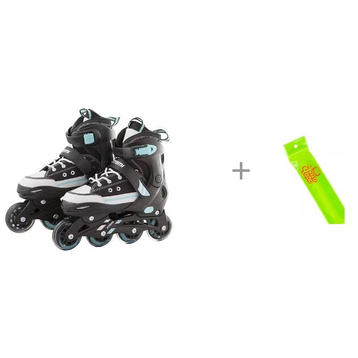 Купить Детские ролики Atemi раздвижные AJIS-1602 и Наклейки световозвращающие Cova Мишки 100 х 85 мм