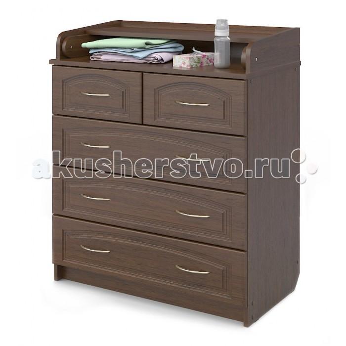 Комоды Атон М (Орион) ПВХ 80/5 пеленальный (5 ящиков) пеленальный комод атон мебель кр80 5 пвх венге ваниль