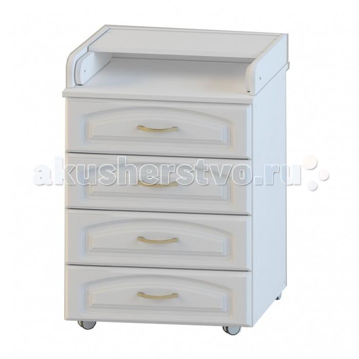 Комод Атон М (Орион) ПВХ КР 60/4 пеленальный с колесами (4 ящика)