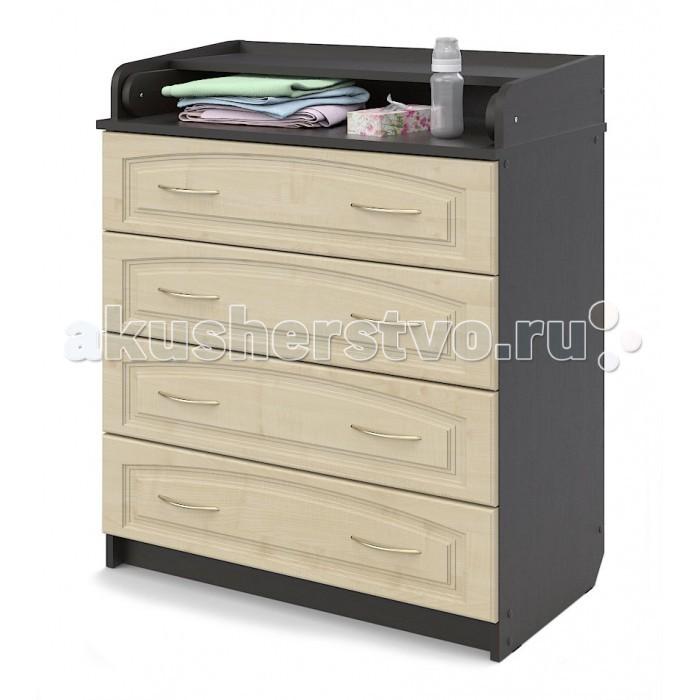 Комоды Атон М (Орион) ПВХ 80/4 пеленальный (4 ящика) пеленальный комод атон мебель кр80 4 пвх венге