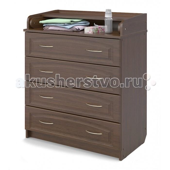 Комоды Атон М (Орион) ПВХ 80/4 пеленальный (4 ящика) пеленальный комод атон мебель кр80 5 пвх вишня
