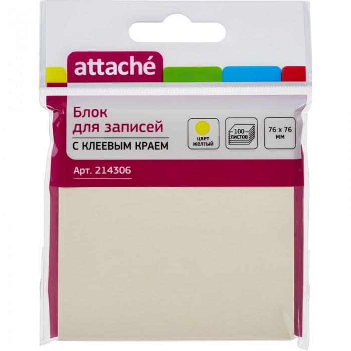 Канцелярия Attache Блок-кубик с клеевым краем Z-блок 76х76 мм 100 листов