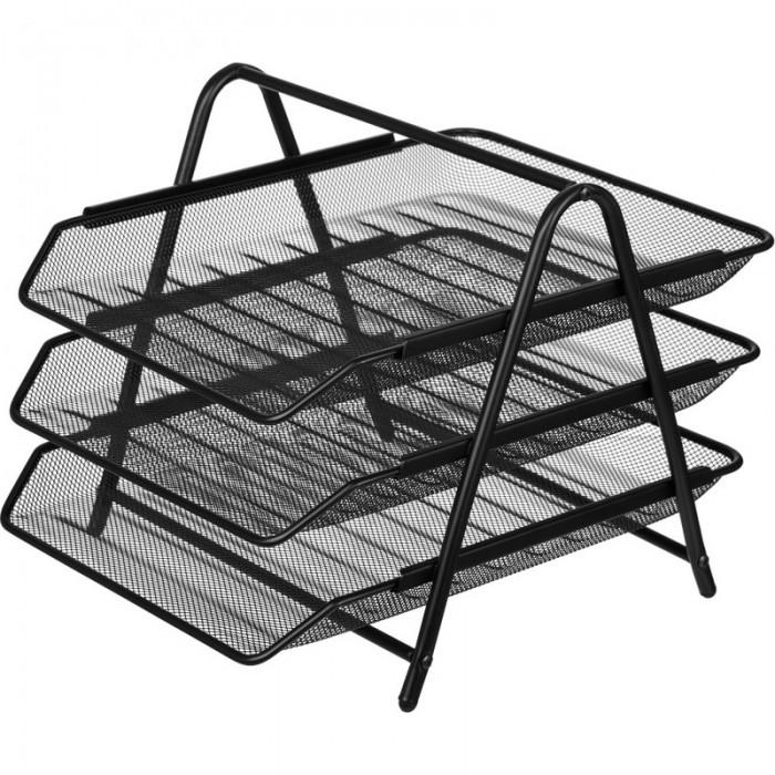 Канцелярия Attache Лоток для бумаг 3-секционный горизонтальный лоток для бумаг sponsor вертикально горизонтальный семисекционный черный st905 7