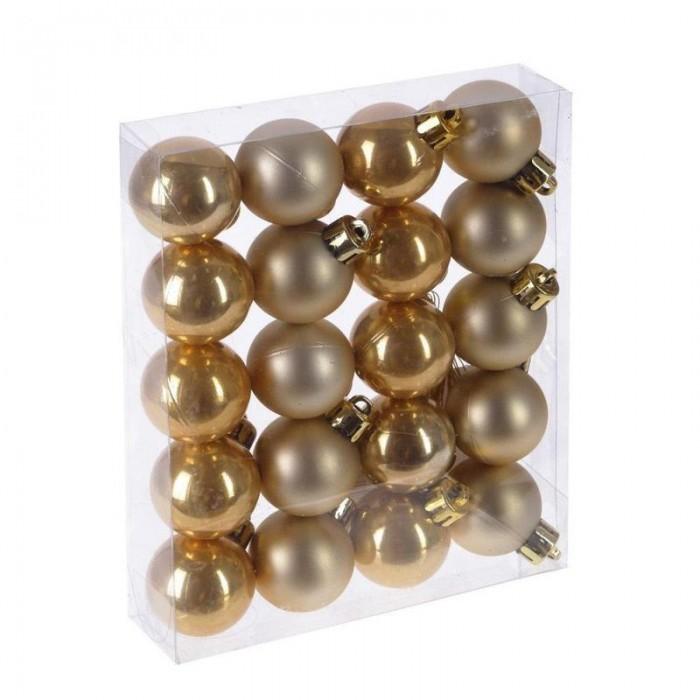 Елочные игрушки Attache Набор из 20 новогодних шаров 3 см (матовый и глянец) набор la redoute из новогодних шаров золотистого цвета caspar единый размер желтый