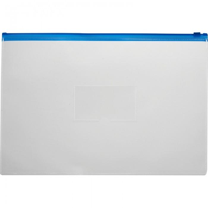 Канцелярия Attache Папка-конверт на молнии прозрачная А5