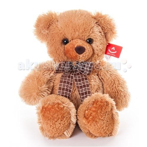 Мягкие игрушки Aurora Медведь с бантом 45 см aurora медведь медовый с бантом 45см 21 137