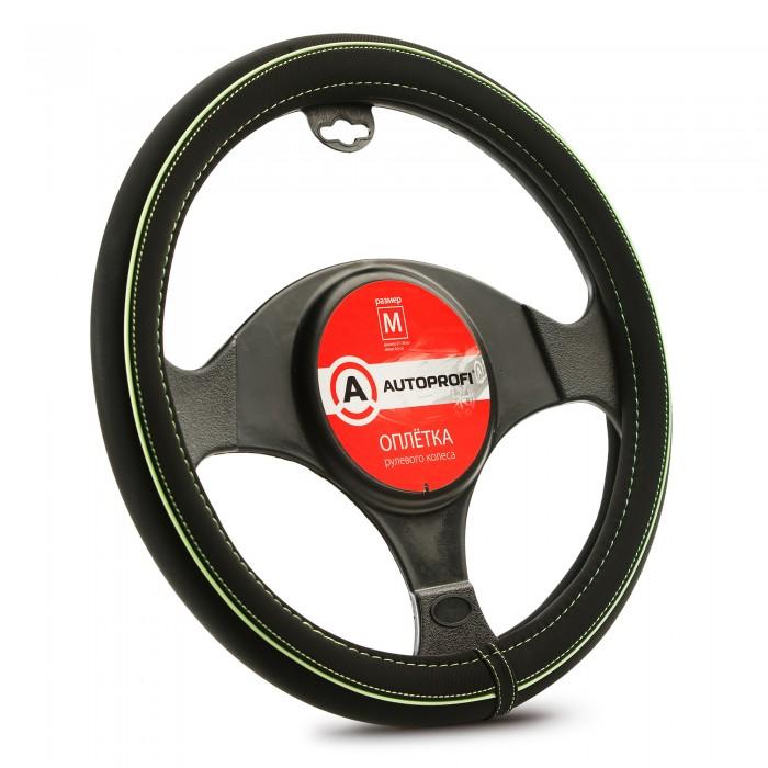 оплетка руля auto standart сasual black м 37 39см Аксессуары для автомобиля Autoprofi Оплетка руля размер М