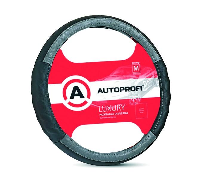Аксессуары для автомобиля Autoprofi Оплётка руля Luxury размер М AP-1070