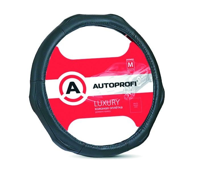 Аксессуары для автомобиля Autoprofi Оплётка руля Luxury размер М AP-1020