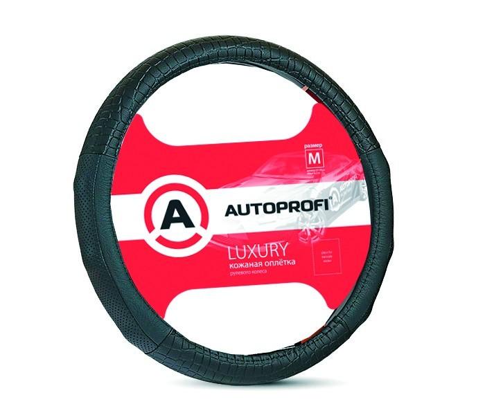 Аксессуары для автомобиля Autoprofi Оплётка руля Luxury размер М AP-1040