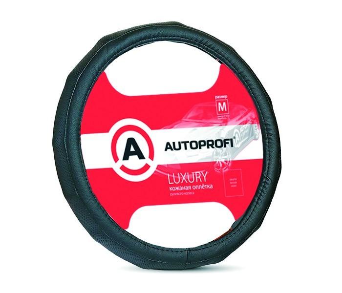Аксессуары для автомобиля Autoprofi Оплётка руля Luxury размер М AP-1050