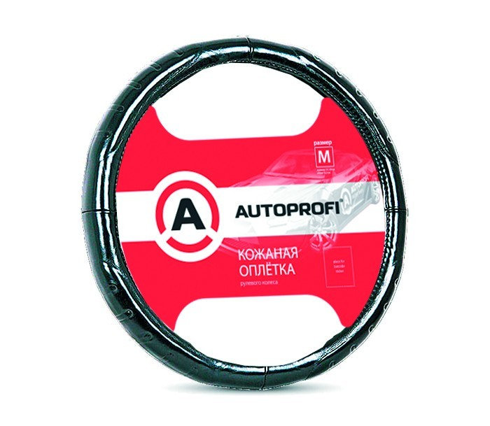 оплетка руля auto standart сasual black м 37 39см Аксессуары для автомобиля Autoprofi Оплётка руля Luxury размер М AP-850