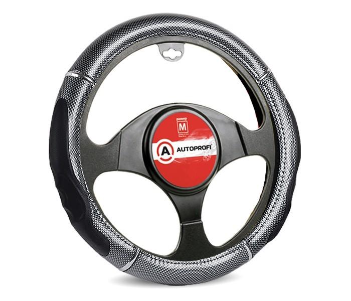 Аксессуары для автомобиля Autoprofi Оплётка руля со вставкой под карбон размер М GL-1025
