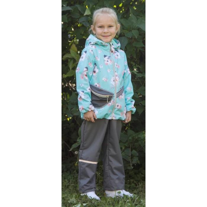 Аврора Ветровочный комплект для девочки (куртка, полукомбинезон) Эльза