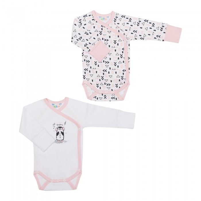 Детская одежда , Боди и песочники Axiome De Mode Боди-кимоно Пингвины 2 шт. арт: 448379 -  Боди и песочники