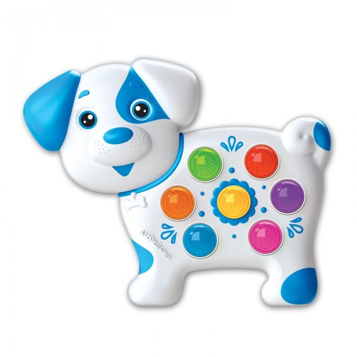 Электронные игрушки Азбукварик Веселушки Электронная музыкальная игрушка Собачка азбукварик игрушка азбукварик мишка веселушки