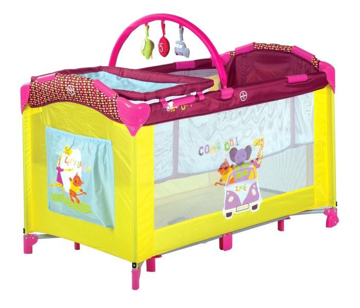 Манеж Babies P-695P-695Манеж Babies P-695  Комфортный и качественный манеж, который можно использовать для сна вашего малыша, а так же для игр на улице и дома.  Манеж Babies P-695H имеет дополнительный второй уровень для детей весом до 9 кг, чтобы маме не приходилось низко наклоняться, чтобы взять малыша на руки. Данный уровень не рекомендуется использовать после того, как ребенок научился самостоятельно садиться.  Так же для удобства родителей в манеже предусмотрены:  Съемный пеленальный столик, мягкий, с бортиками, не промокает, можно мыть  Карман для игрушек или средств поуходу за малышом  Дуга с яркими игрушками так же снимается  В комплекте москитная сетка для использования вне помещений  Быстрый и безопасный механизм складывания-раскладывания манежа со специальным замком-фиксатором  Дополнительные ножки посередине манежа обеспечивают дополнительную устойчивость  Для того, чтобы вашему малышу было удобно съемный мягкий матрасик  Манеж компактно складывается в сумку-переноску  Специальная форма ножек для того, чтобы манеж невозможно было опрокинуть даже облокотившись на него  Манеж изготовлен из прочных антибактериальных тканей, удобных для чистки. Габаритные размеры: 120 х 68 х 77 см Вес: 12 кг<br>