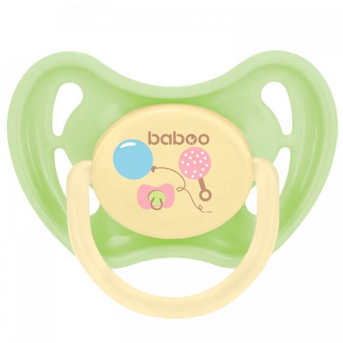 Пустышки Baboo Соска Baby Shower круглая латексная 6+ мес.