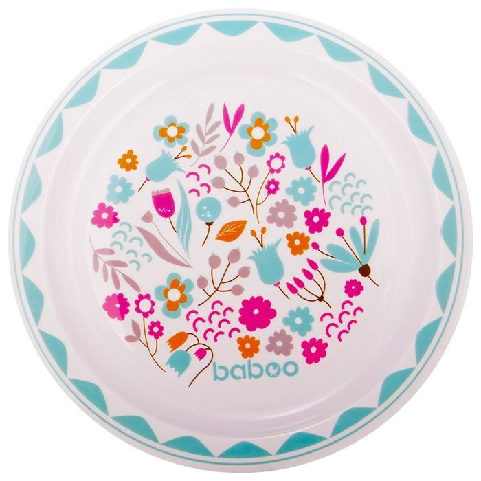 Фото - Посуда Baboo Тарелка Flora 6+ мес. поильник baboo flora 8 104 розовый