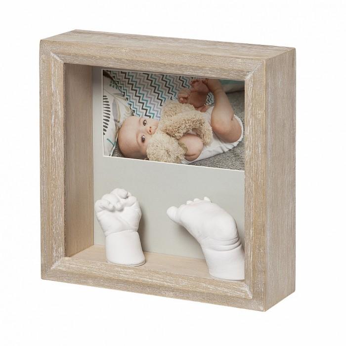 Фото - Фотоальбомы и рамки Baby Art Рамочка с объёмными слепками и фотографией Классика сувенир