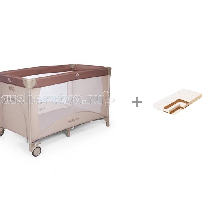 Манежи Baby Care Arena и Матрас Плитекс Кокосовый Юниор-плюс 120x60x8