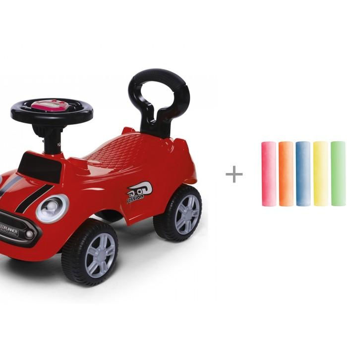 Каталка Baby Care Speedrunner музыкальный руль с цветными мелками Brauberg