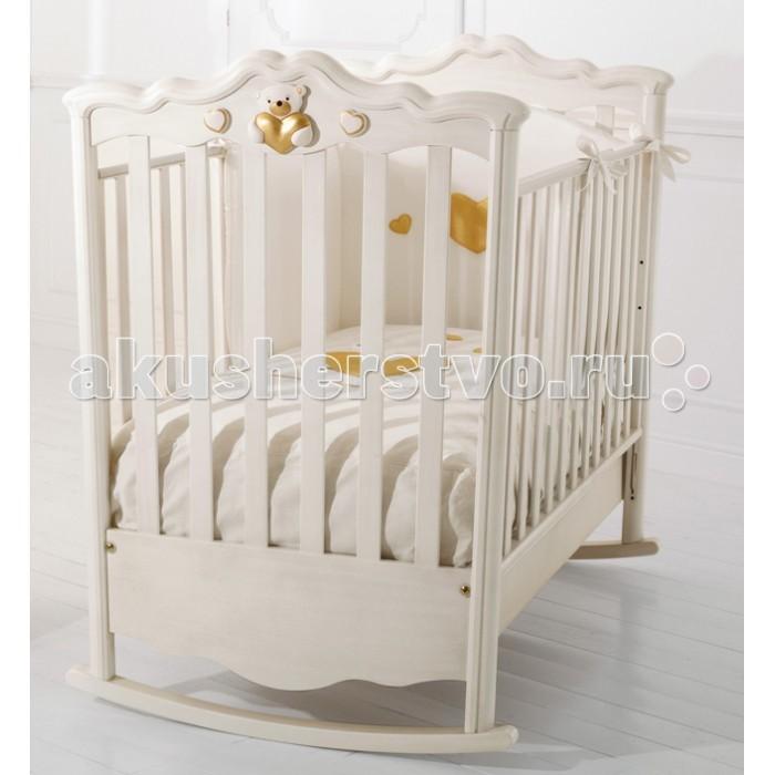 Детская кроватка Baby Expert RomanticoRomanticoДетская кроватка Baby Expert Romantico станет главным украшением любой детской и придаст интерьеру благородство и изысканность.  Особенности: Ортопедическое дно из буковых реек формирует правильное положение спины малыша  Два положения дна кроватки Легкая сборка без инструментов (система Easy Fix) Боковые ограждения регулируются по высоте  Высота боковых ограждений не менее 60 см, что соответствует европейским требованиям безопасности  Четыре резиновых колесика с 2 стопорами  Возможность установить качалку  Подкроватный ящик в комплекте  Расстояние между планками не более 7 сантиметров – ручки, ножки и голова ребенка не застрянут в промежутках  Сертификат ISO 9001 гарантирует безопасность и не токсичность материалов, используемых при создании кроватки  Материалы: каркас - МДФ, боковины - бук, гипоаллергенные краски  на водной основе.<br>