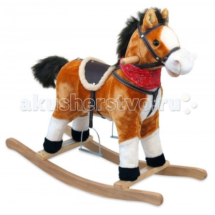 Качалка Baby Mix Лошадка OscarЛошадка OscarКачалка Baby Mix Лошадка Oscar   Небольшая симпатичная лошадка с пушистой шерсткой и мягкой гривой выполнена из качественных материалов и предназначена для детей, начиная с 18 месяцев. Сама лошадка при этом достаточно легкая, она весит всего 2,5-3 килограмма.   Лошадка шевелит ртом и хвостом, имеет звуковое сопровождение - ржание, цокот копыт и веселая песенка. Качалка работает от 3 батареек типа АА (в комплект не входят).  Деткам очень нравится раскачиваться взад и вперед на такой смешной и мягкой зверушке, при этом они не только получают море удовольствия, но и развивают свой вестибулярный аппарат.   Внутри лошадки находится мягкий безопасный наполнитель синтетического происхождения. Игрушка получила соответствующее санитарно-эпидемиологическое заключение и подходит для маленьких детей.  Игрушка получила соответствующее санитарно-эпидемиологическое заключение и подходит для маленьких детей.<br>