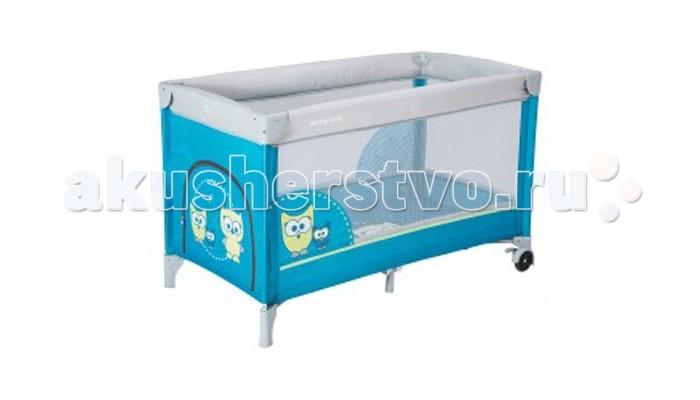 Манеж Baby Mix SowaSowaМанеж Baby Mix Sowa подходит для детей весом до 15 кг.  У вашего малыша будет просторное место для игр, а также кровать для дневного отдыха или ночного сна. Вам не нужно будет волноваться за безопасность крохи, а также за его здоровье, так как манеж выполнен из качественных материалов.  Особенности: прочное и надежное дно прямоугольной формы; 2 в 1: детская кроватка и безопасный манеж для игр и сна; четыре устойчивые ножки + поперечная подпорка по центру; мягкая обивка предотвратит возможное травмирование крохи при случайном падении; сетчатые боковые стенки прекрасно пропускают воздух и свет; каркас спрятан под мягкими набивными бортиками; удобная и простая складная конструкция (принцип зонтик); довольно просторное спальное место; в комплекте есть текстильный чехол для хранения и транспортировки; материалы изготовления: прочная ткань, пластик, металл; специальная предохранительная система от случайного складывания; яркая расцветка; легко содержать в чистоте.<br>