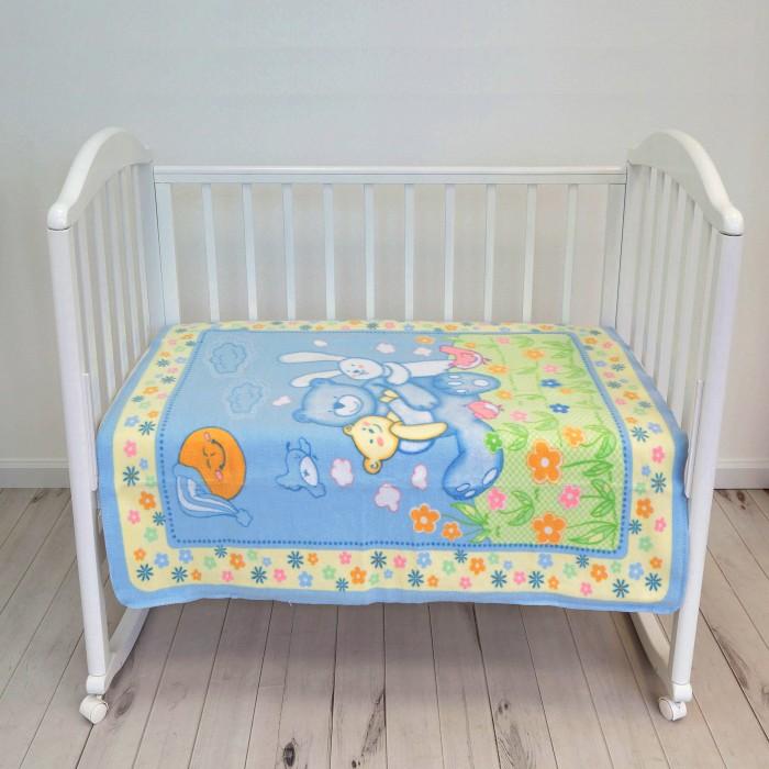 Одеяла Baby Nice (ОТК) байковое Мишка на лужайке 100 х 118