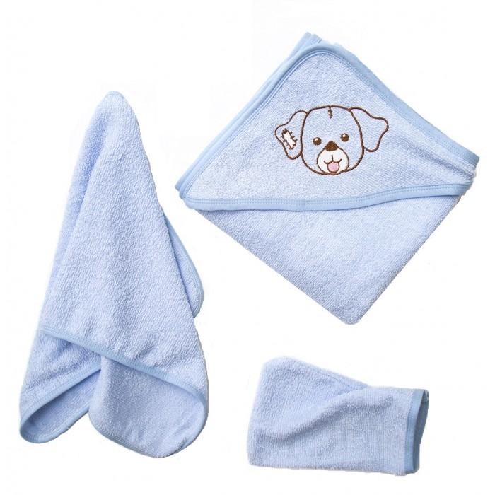 Полотенца Baby Nice (ОТК) Комплект для купания махровый Собачка (3 предмета)
