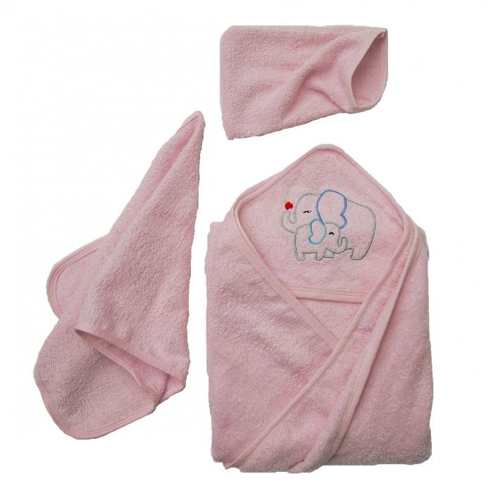 Полотенца Baby Nice (ОТК) Комплект для купания махровый Слоники (3 предмета)