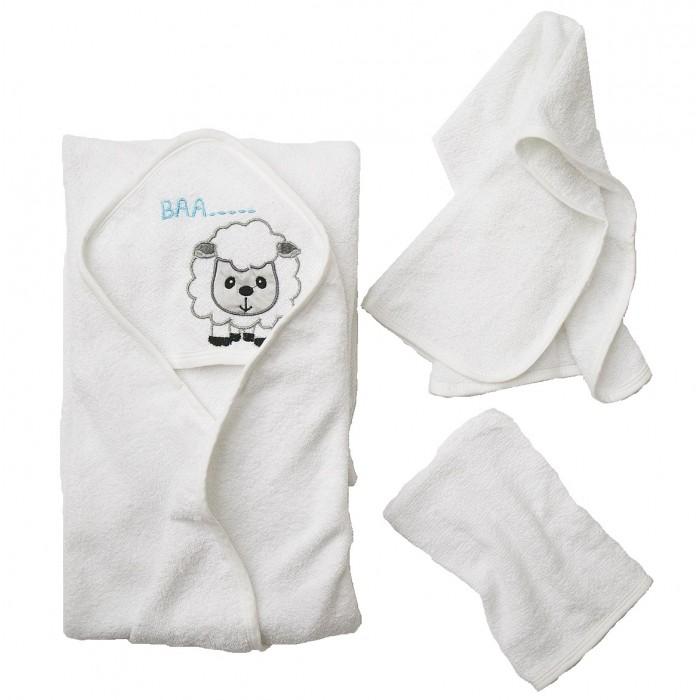 Полотенца Baby Nice (ОТК) Комплект для купания махровый Овечка (3 предмета)