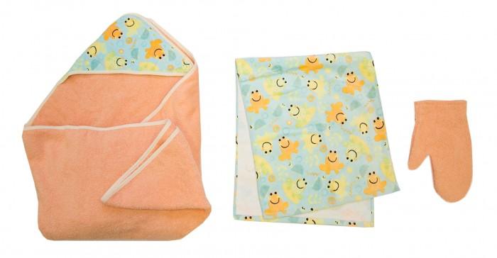 Купание малыша , Полотенца Baby Nice (ОТК) Комплект для купания Премиум арт: 426119 -  Полотенца