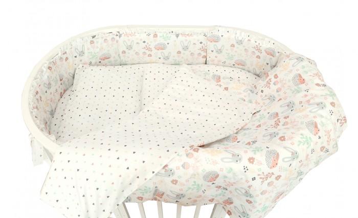 Постельные принадлежности , Бортики в кроватку Baby Nice (ОТК) Лесная поляна для овальной кроватки раздельный арт: 426129 -  Бортики в кроватку