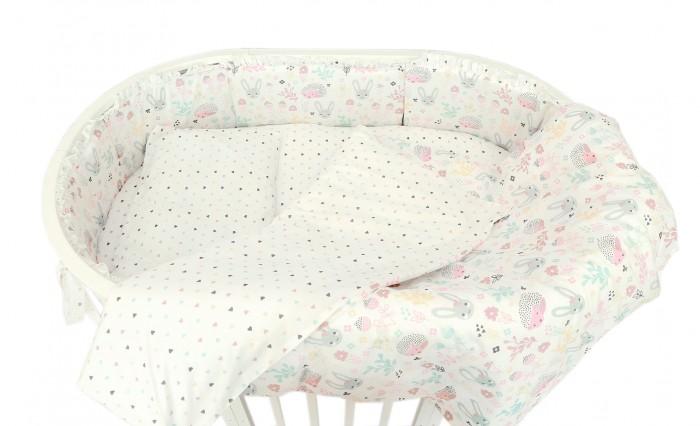 Бортики в кроватку Baby Nice (ОТК) Лесная поляна для овальной кроватки раздельный