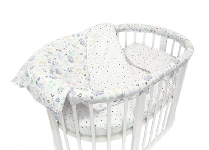 где купить Постельное белье Baby Nice (ОТК) Лесная поляна для овальной кроватки по лучшей цене