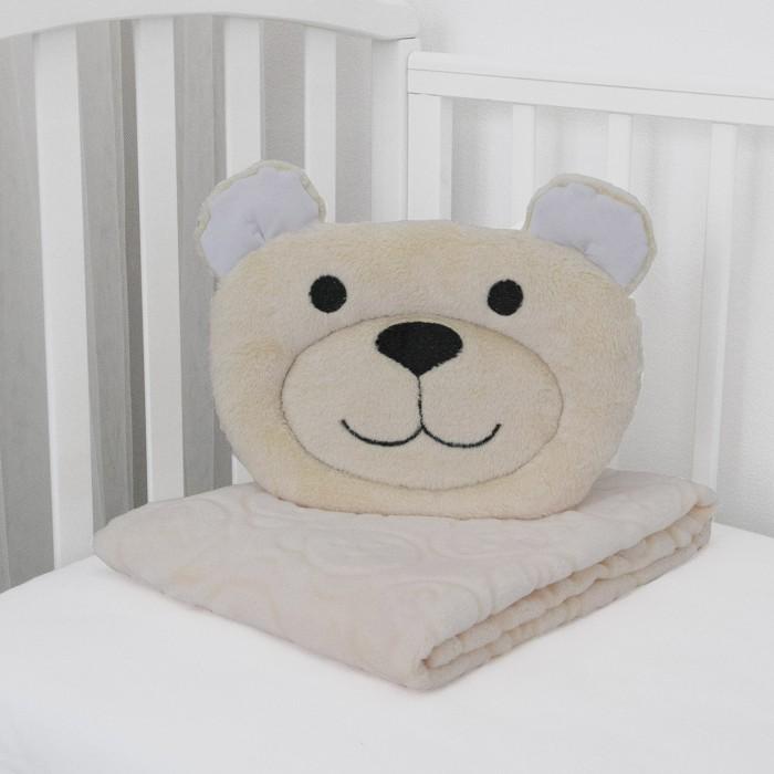 Купить Пледы, Плед Baby Nice (ОТК) Micro velur 100x118 см + подушка Мишка